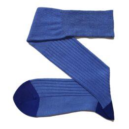 Viccel Linen Cotton blue socks