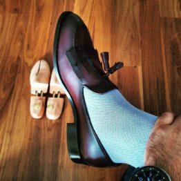 viccel Skyblue herringbone cotton socks