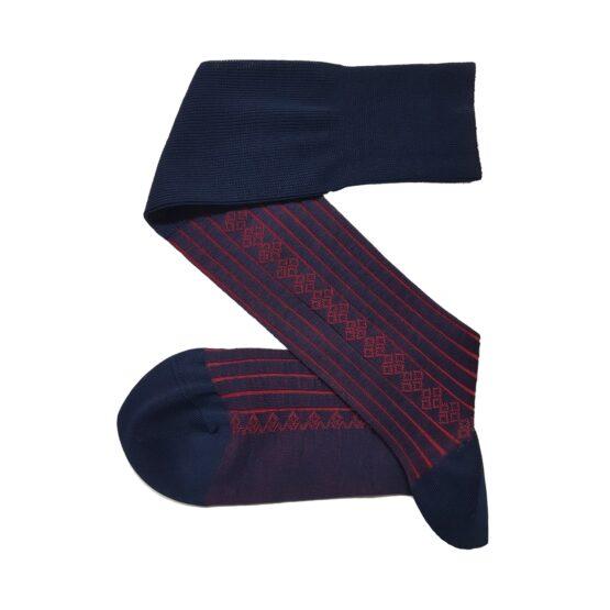 viccel navy blue red socks