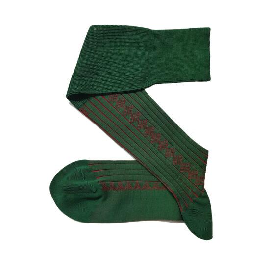 Oz Green Red Cotton socks