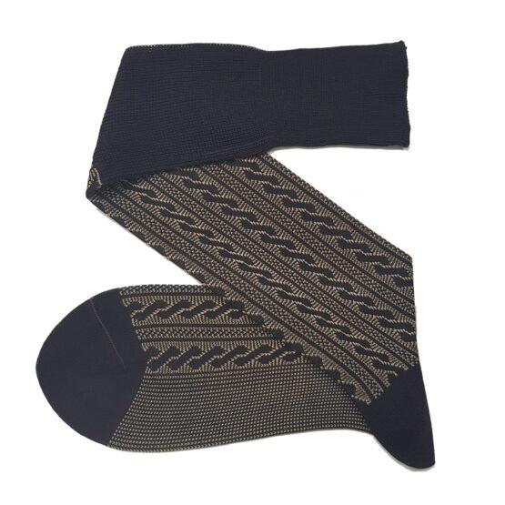 Viccel Dark Brown Cable cotton socks