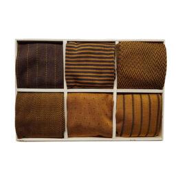 Viccel Brown Mustard cotton socks