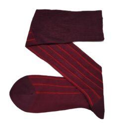 Viccel Burgundy Red Shadow Cotton Socks