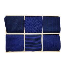 Vİccel Navy Blue Royal Blue 6 pack Socks