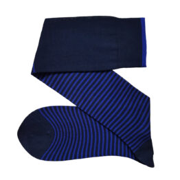 navy blue royal blue striped cotton socks