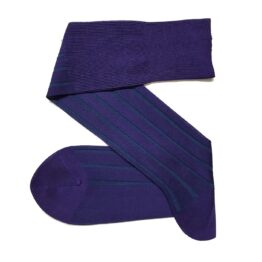 Purple Petrol Shadow cotton socks