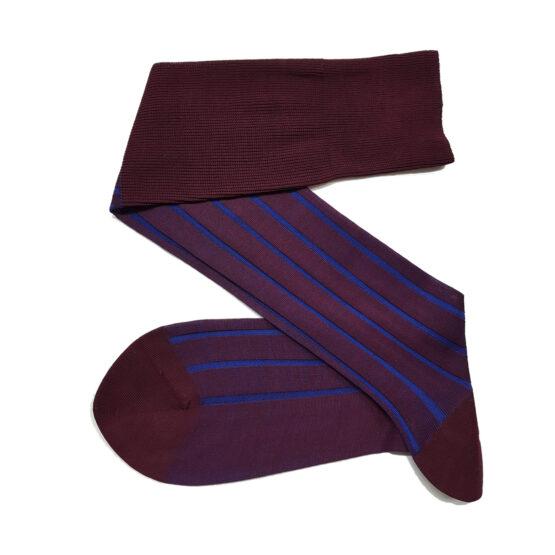 Viccel Burgundy Royal Shadow Cotton Socks