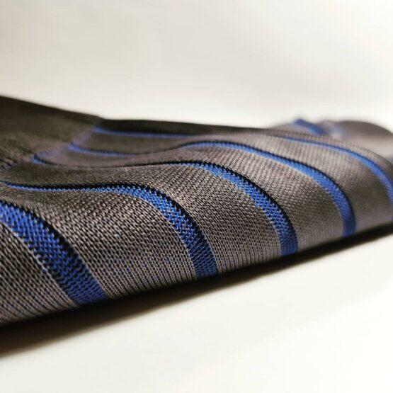 gray Royal Blue Shadow striped Cotton Socks