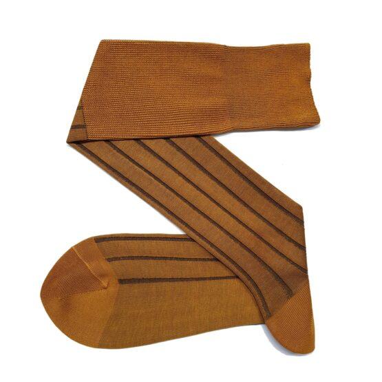 Mustard Brown Shadow Cotton Socks