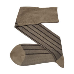 Beige Brown Shadow Socks